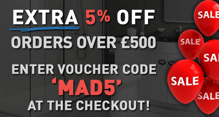 Sale - Extra 5 percent off orders over 500GBP with code MAD5