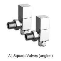 Square body chrome radiator valves