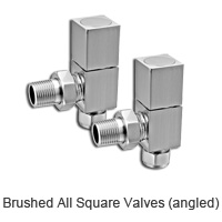 Square body brushed radiator valves