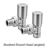 Brushed round head radiator valves