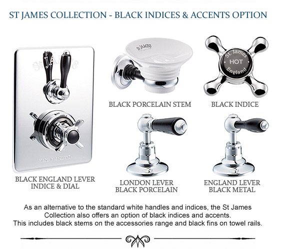 St James Collection colour options