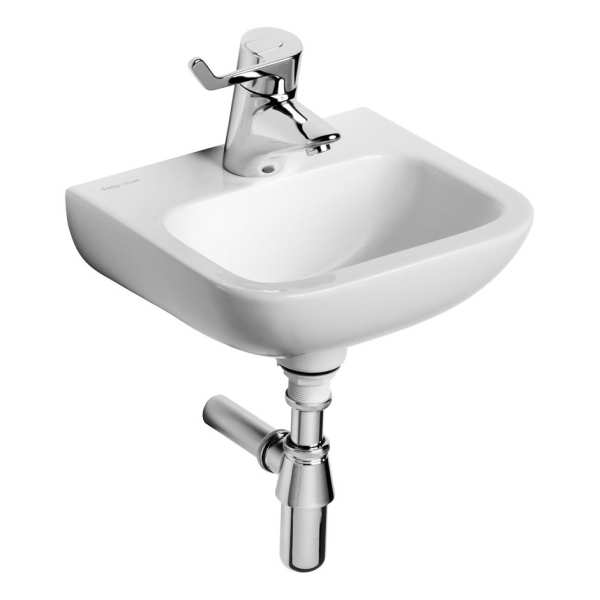 Armitage Shanks Contour 21 37cm hand rinse basin no overflow or chain hole one centre taphole
