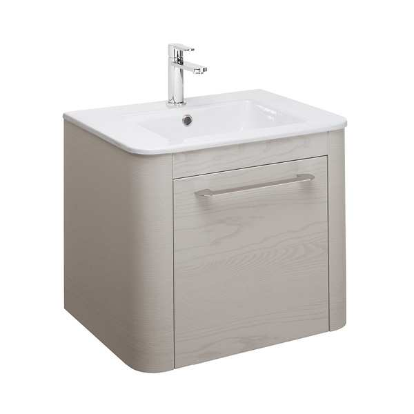 Bauhaus Celeste 60 Single Drawer Pebble Vanity Unit PLUS CERAMIC Basin CL6000DPL+ CL0611SCW