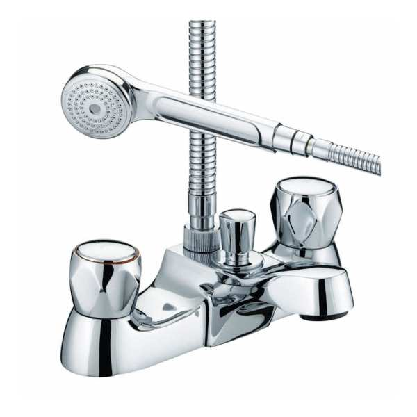 Bristan Club Luxury Bath Shower Mixer Chrome Plated With Metal Heads VAC LBSM C MT