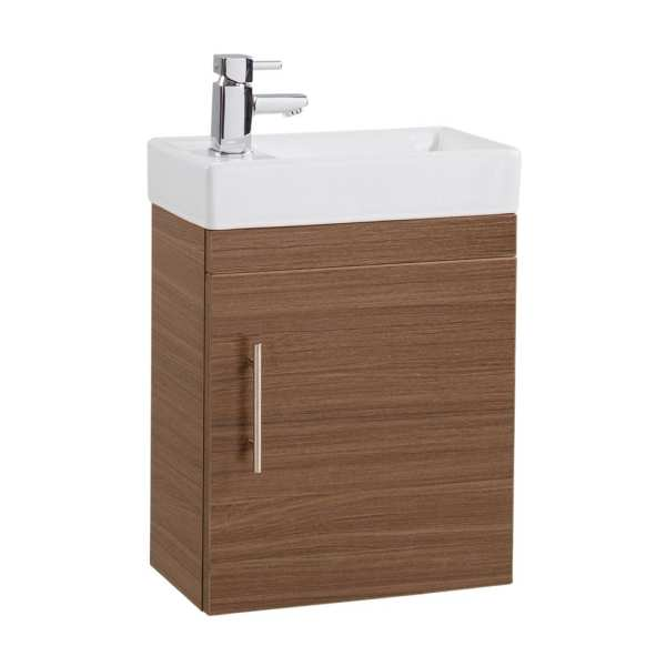 Cassellie Walnut Cube Vanity Unit CUBK004