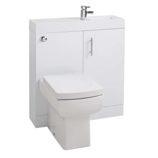 Cassellie Gloss White Cube Combo Unit CUBK009