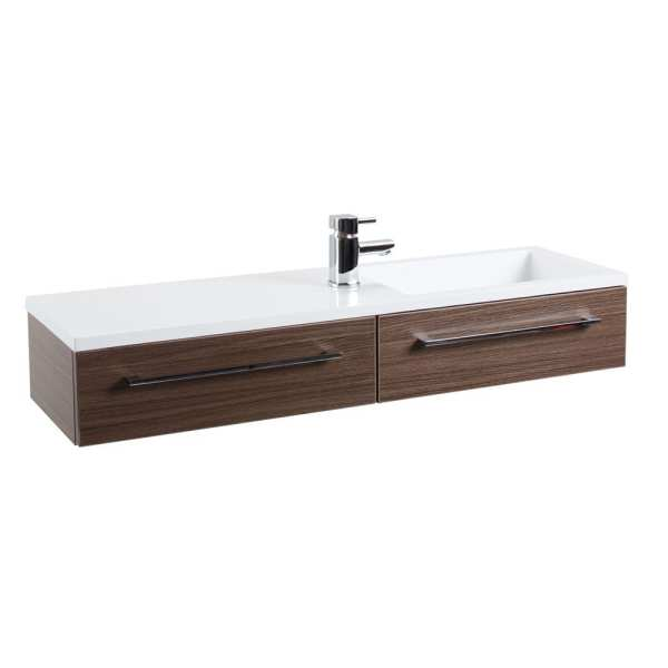 Cassellie Dias Walnut Wood Wall Hung Basin Unit DIAK004