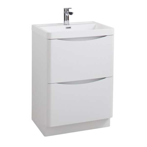 Cassellie Bali White Ash Vanity Unit 600mm FSC594WA