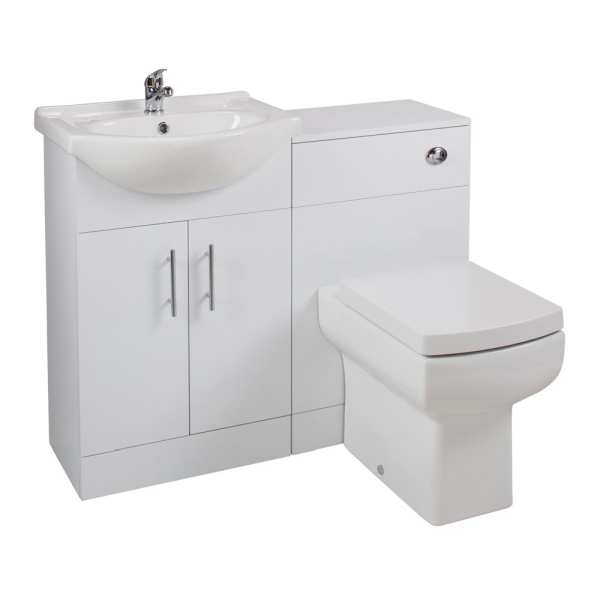 Cassellie Kass Series White Combination Unit with Daisy Lou Toilet LITHP08