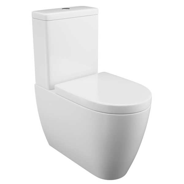 Cassellie Loxley Flush To Wall Toilet with Wrapover Seat LOX002