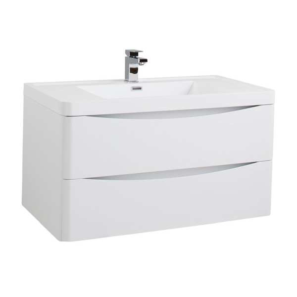 Bali White Ash Wall Mounted Vanity Unit 900mm WMC894WA