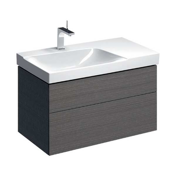 Geberit Xeno2 900mm Scultura Grey Left Hand Washbasin Unit 500.515.43.1