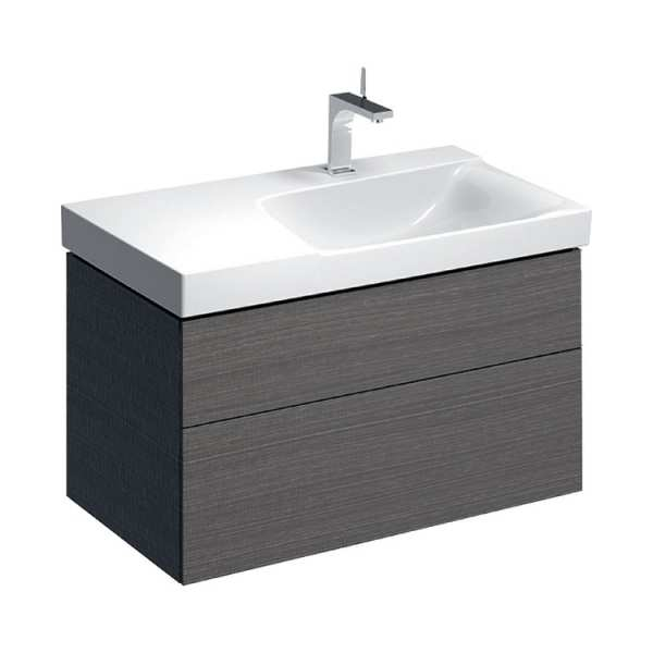 Geberit Xeno2 900mm Scultura Grey Right Hand Washbasin Unit 500.516.43.1