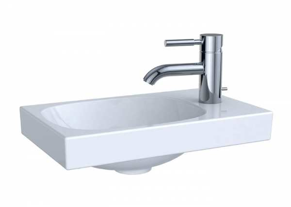 Geberit Acanto 400 x 250 One Tap Hole Wall Hung Handrinse Basin