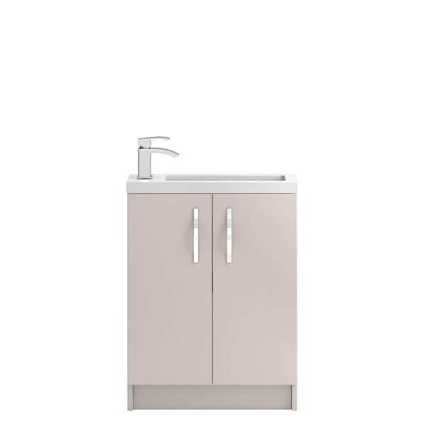 Hudson Reed Apollo Compact Cashmere Floor Standing 600mm Cabinet and Basin APL726C