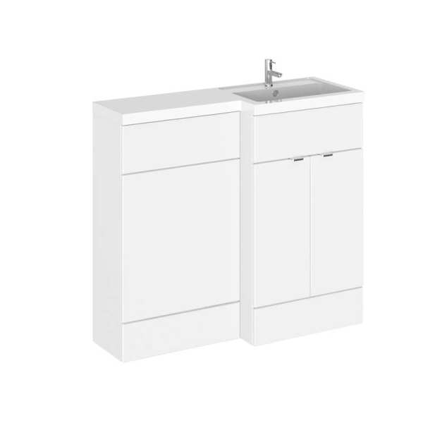 Hudson Reed Fusion White Gloss 1000mm RH Combination Furniture Unit and Basin CBI127