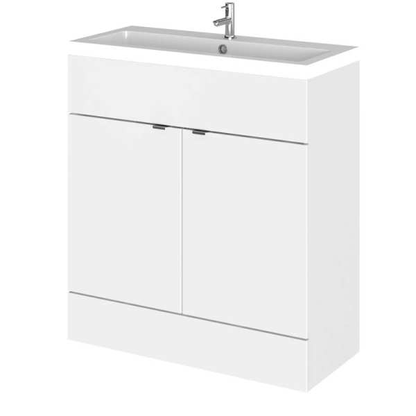 Hudson Reed Fusion White Gloss 800mm Vanity Unit and Basin CBI128