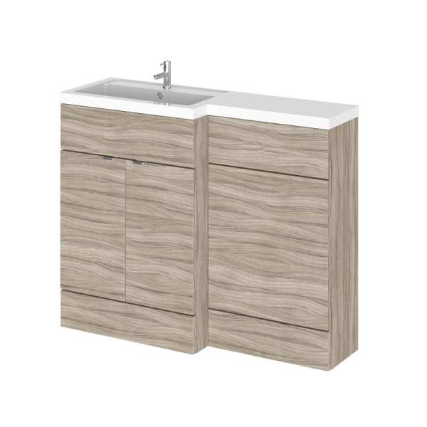 Hudson Reed Fusion Driftwood 1100mm LH Combination Furniture Unit And Basin CBI202