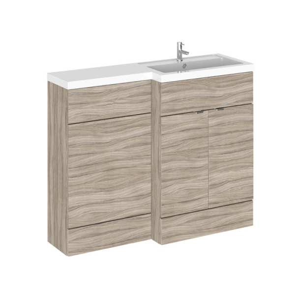 Hudson Reed Fusion Driftwood 1100mm RH Combination Furniture Unit And Basin CBI203