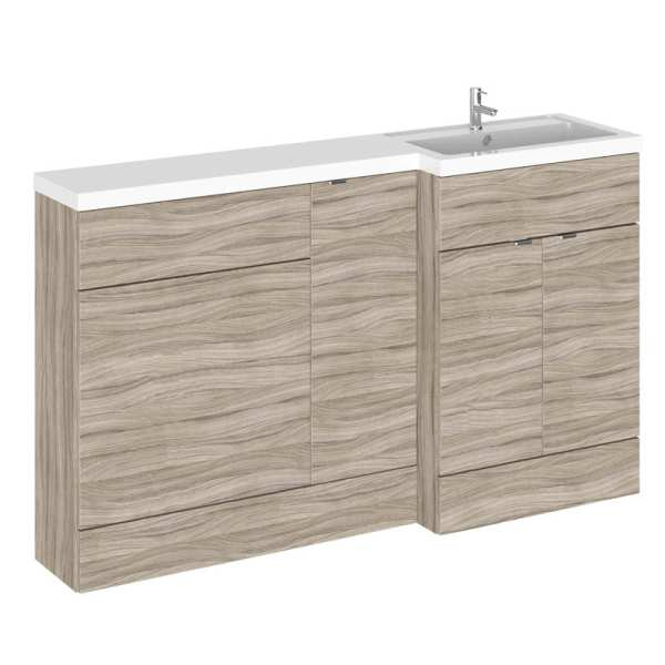 Hudson Reed Fusion Driftwood 1500mm RH Combination Furniture Unit And Basin CBI214