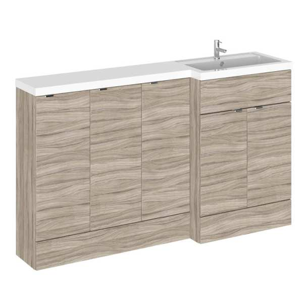 Hudson Reed Fusion Driftwood 1500mm RH Combination Furniture Unit And Basin CBI218