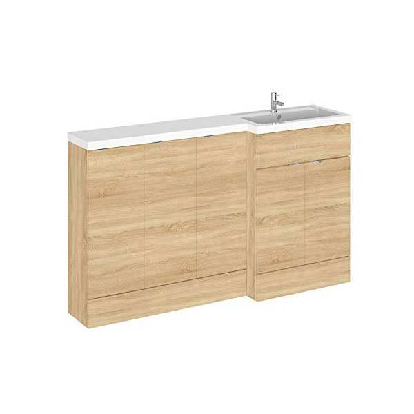 Hudson Reed Fusion Natural Oak 1500mm RH Combination Furniture Unit and Basin CBI318