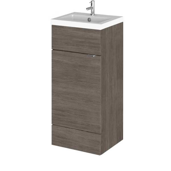 Hudson Reed Fusion Grey Avola 400mm Vanity Unit and Basin CBI523