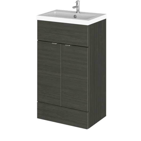 Hudson Reed Fusion Black 500mm Vanity Unit and Basin CBI624