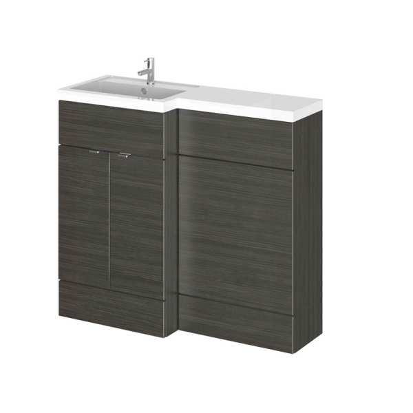 Hudson Reed Fusion Black 1000mm LH Combination Furniture Unit And Basin CBI626