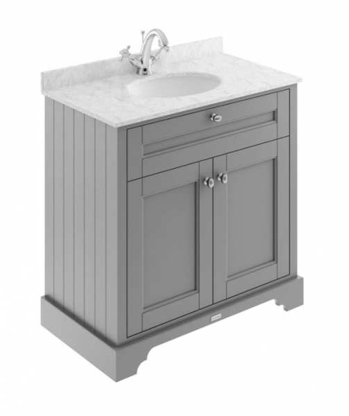 Hudson Reed Old London Storm Grey 800mm Unit And Basin (1 Tap Hole) LOF229