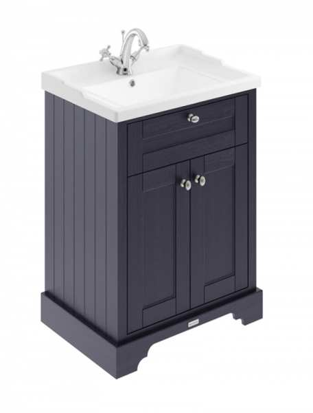 Hudson Reed Old London Twilight Blue 600mm Unit And Basin (1 Tap Hole) LOF303