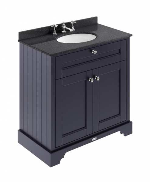 Hudson Reed Old London Twilight Blue 800mm Unit And Basin (3 Tap Hole) LOF330