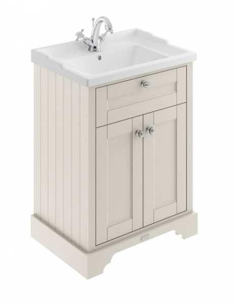 Hudson Reed Old London Timeless Sand 600mm Unit And Basin (1 Tap Hole) LOF403