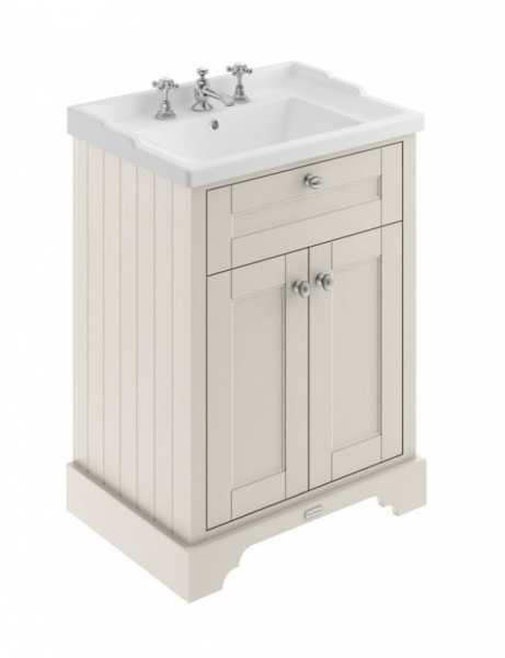Hudson Reed Old London Timeless Sand 600mm Unit And Basin (3 Tap Hole) LOF433