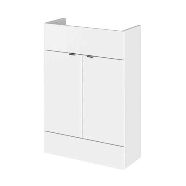 Hudson Reed Gloss White 600mm Slimline Vanity Unit OFF107