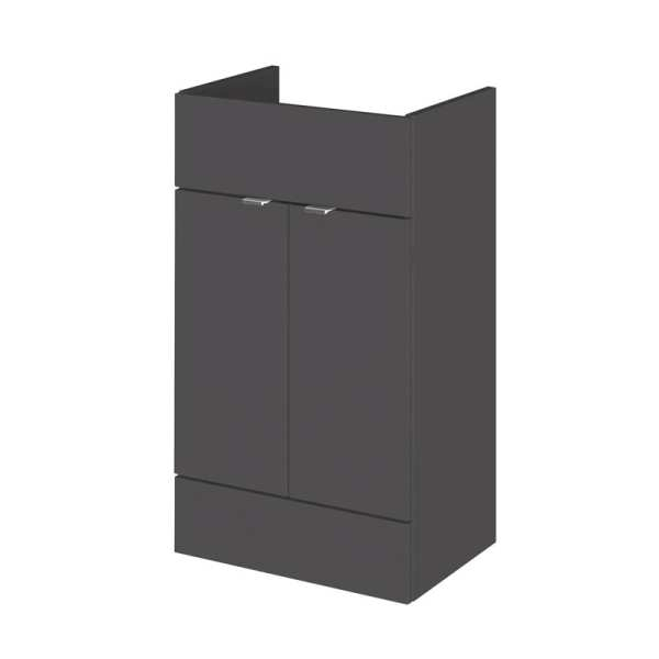 Hudson Reed Grey Gloss 500mm Vanity Unit OFF906