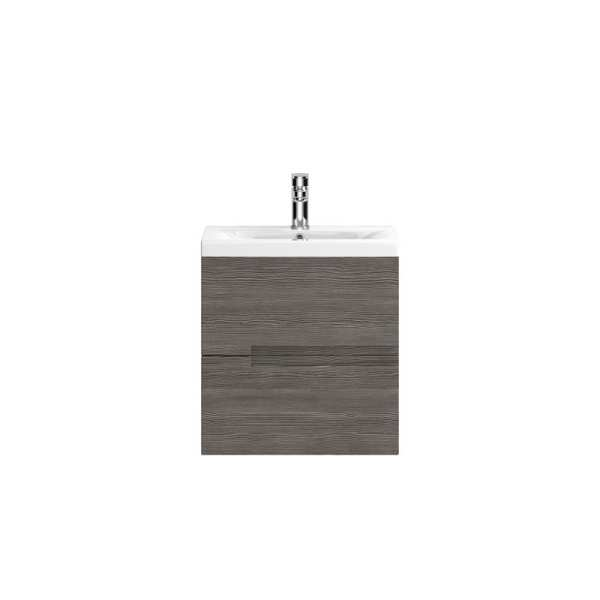 Hudson Reed Urban Grey Avola Wall Hung 500mm Cabinet and Basin 2 URB515