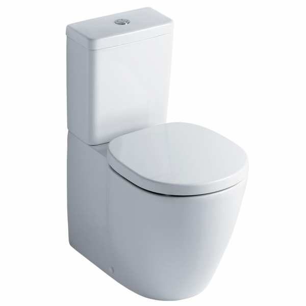 Ideal Standard Concept Cube back to wall close coupled pan with 4/2.6 Litre Dual Flush Cistern