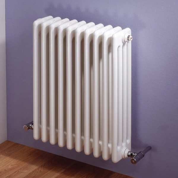 MHS Multisec Wall 600mm High x 1404mm Wide 3 Column Radiator