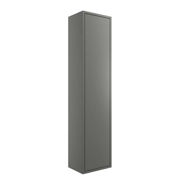 Moods Perla Matt Grey 300mm One Door Tall Unit DIFT1216