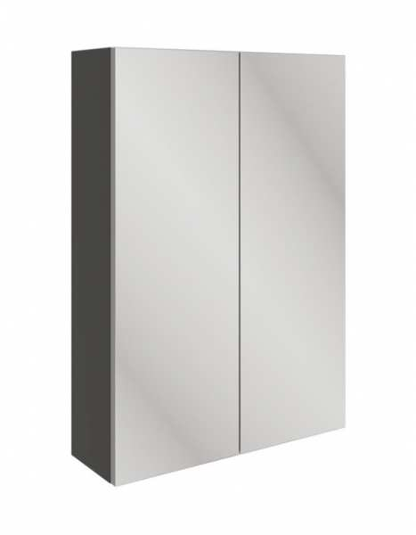 Moods Valesso Onyx Grey Gloss 500mm Slim Mirrored Unit DIFT1586