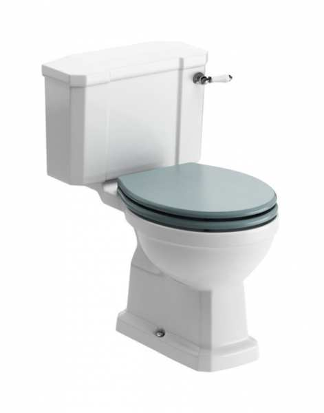 Moods Sherbourne Close Coupled WC And Sea Green Soft Close Seat DIPTP0188