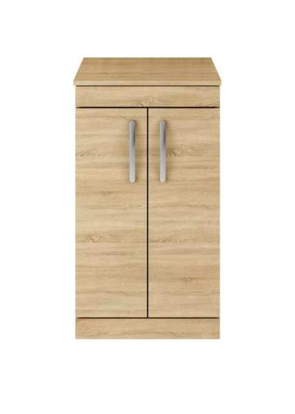 Nuie Athena Natural Oak Floor Standing 500mm Cabinet and Worktop ATH003W