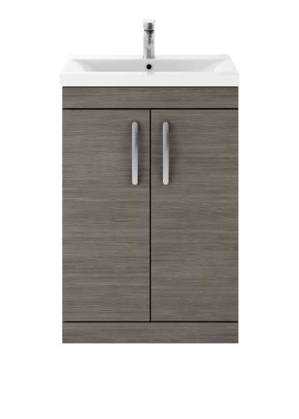 Nuie Athena Grey Avola Floor Standing 600mm Cabinet and Basin 2 ATH025B