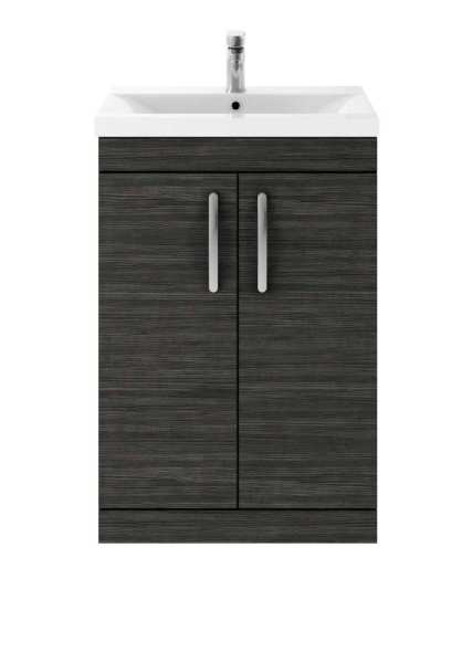Nuie Athena Hacienda Black Floor Standing 600mm Cabinet and Basin 2 ATH026B