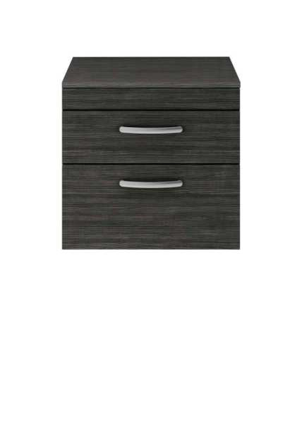 Nuie Athena Hacienda Black Wall Hung 600mm Cabinet and Worktop ATH047W