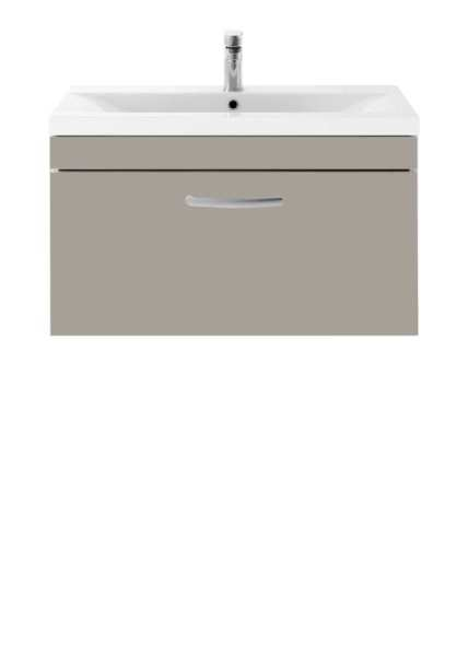 Nuie Athena Stone Grey Wall Hung 800mm Cabinet and Basin 2 ATH063B