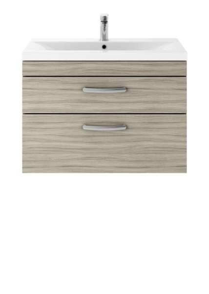 Nuie Athena Driftwood Wall Hung 800mm Cabinet and Basin 2 ATH064B