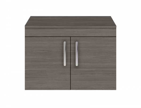 Nuie Athena Grey Avola Wall Hung 800mm Cabinet and Worktop ATH100W