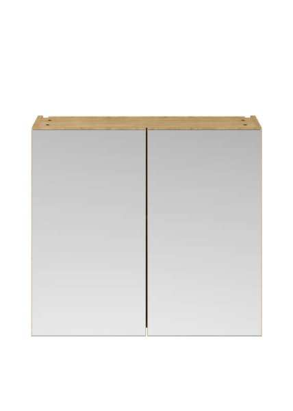 Nuie Athena Natural Oak 800 Mirror Unit 50/50 OFF319
